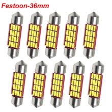 C5W C10W Festoon 36mm LED Bulbs CANBUS 4014 SMD White For Car Auto Interior Dome Map Reading Lamp License Plate Lights DC 12V цена