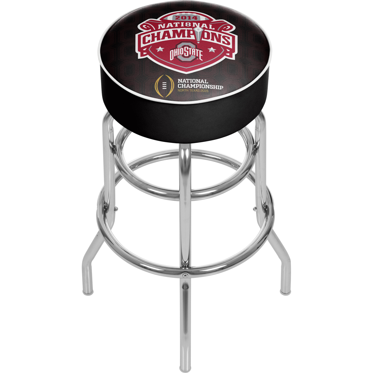 Ohio State National Champions Chrome Bar Stool with Swivel - Fade
