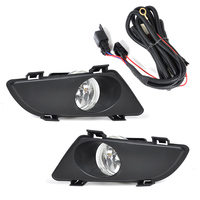 DWCX Front Right & Left Clear Fog Lights Lamp Lens With Wiring Kit For Mazda 6 2003 2004 2005
