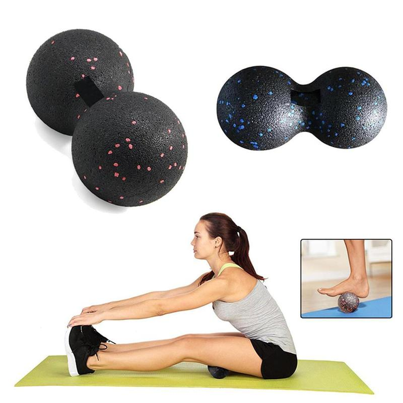 1PC Fitness Peanut Massage Ball Fascia Massager Roller Pilates Yoga Relaxing Exercise Equipment Fitness Balls Massage Tool