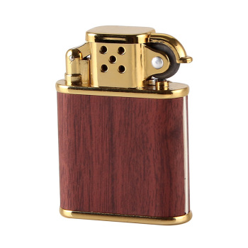 Wood Pattern Lighter Metal Butane Torch Lighter Gas Refillable Cigarette Retro Gadgets Bar Cigar Lighters Men Gift zorr lighter gasoline lighter kerosene oil petrol lighter refillable cigarette metal retro men gadgets bar lighters