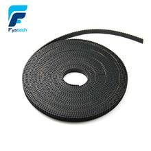 5 м/лот Gt2-6мм открытым ремень грм ширина 6 мм GT2 пояса Rubbr Стеклопластик разрезанная по длине для 3D принтеров оптовой