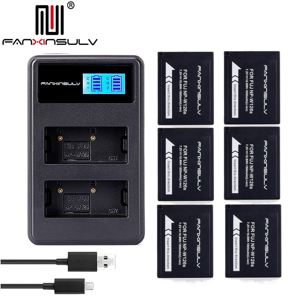 6x NP-W126S NP W126S Batterie + chargeur usb pour Fujifilm Fuji XT3 XA5 XT20 XT2 XH1 XT10 XE3 X100F xpro2 BATEAU AVEC numéro de suivi