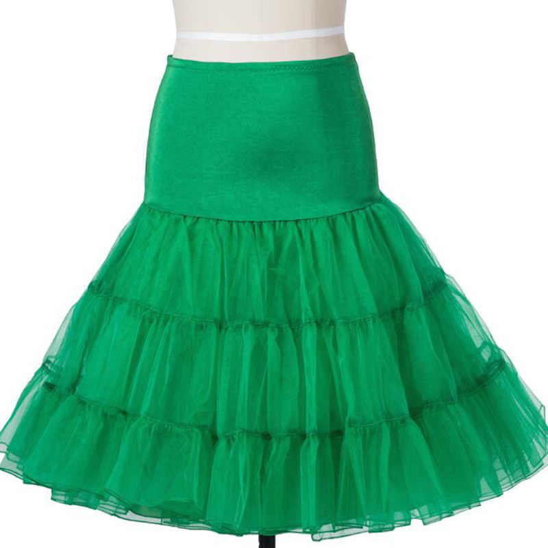 White Green Tulle Skirt Ball Gown Underskirt High Waist Retro Skirt Lolita Swing Vintage 50s 60s Rockabilly Crinoline Petticoat