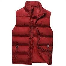 1fd8e516f3aff Autumn Warm Sleeveless Jacket Vest Coat Winter Jacket Men Waistcoat Men s  Cargo Vest Fashion Casual Coats