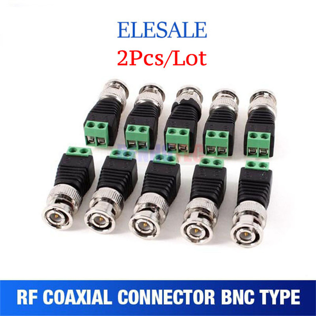 все цены на 2Pcs lot Mini Coax CAT5 To Camera CCTV BNC UTP Video Balun Connector Adapter BNC Plug For CCTV System Accessories онлайн