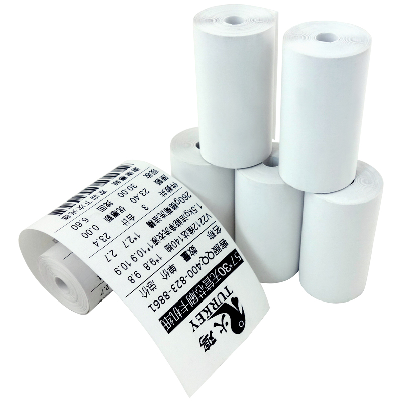 8pcs 57x30mm Handheld Receipt Paper Roll For Mobile POS 58mm Bluetooth Thermal Printer, Coreless Cash Till Roll