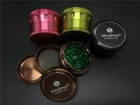 Toptan Renkli 63mm SharpStone Sürüm 2.0 herb öğütücü Alüminyum Metal Tütün sigara ot Keskin Taş öğütücü