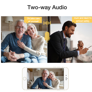 Image 5 - Techage 720P caméra IP sans fil sécurité à domicile CCTV Surveillance vidéo Wifi PT caméra bébé moniteur Vision nocturne Audio bidirectionnel P2P