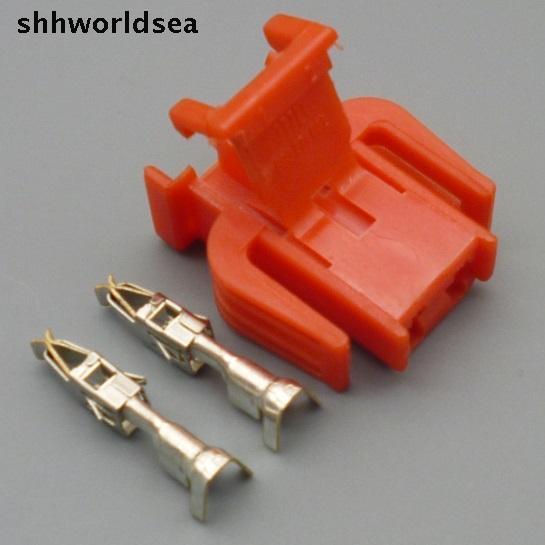 shhworldsea 2 Pin Female ABS car auto Sensor Connector plug Door Light Lamp Socket Use For VW 893 971 632 893971632
