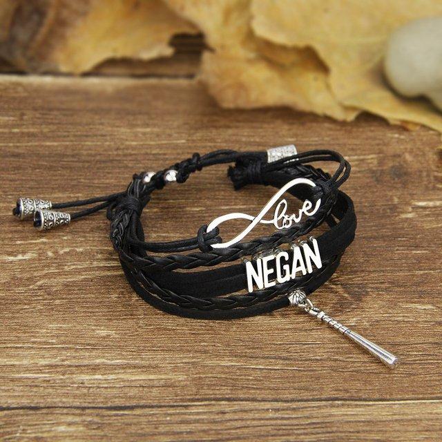 US $7 05 |Negan's Baseball Bat Charm Black Strap Handmade Bracelet-in Charm  Bracelets from Jewelry & Accessories on Aliexpress com | Alibaba Group