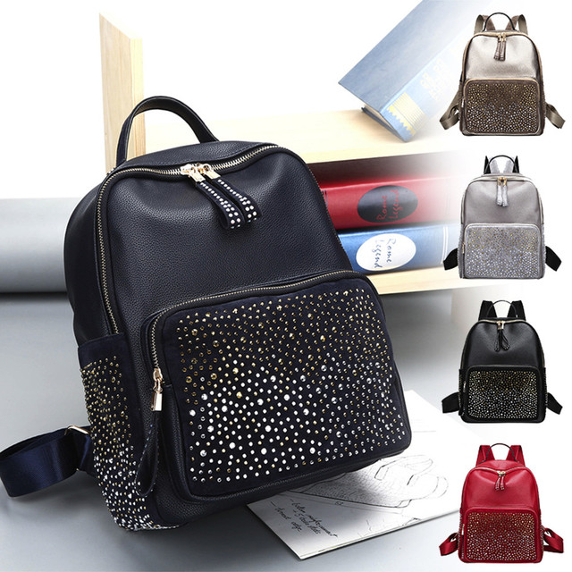 Fashion Women Backpacks Women's PU Leather Backpacks Girl School Bag High Quality Ladies Bags Designer Women Backpack #Zer