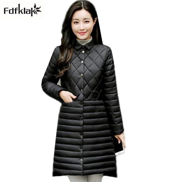 New arrival 2017 winter coat women slim long cotton coat ladies plus size cotton-padded jacket female parka outerwear XXL XXXL