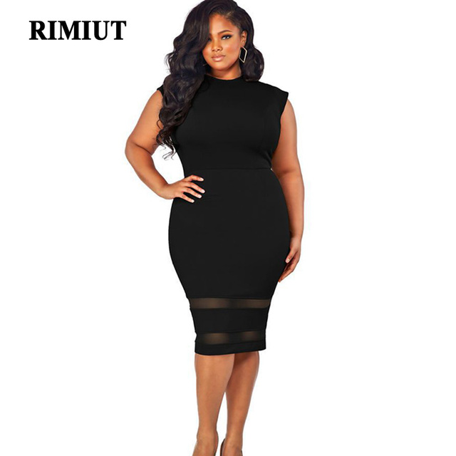 Rimiut Big Size Summer Mesh Loose Dress Fat MM Woman Gift Package Hips  Solid Sexy Party Dress Plus Size xl-5xl 305fd3f378cc