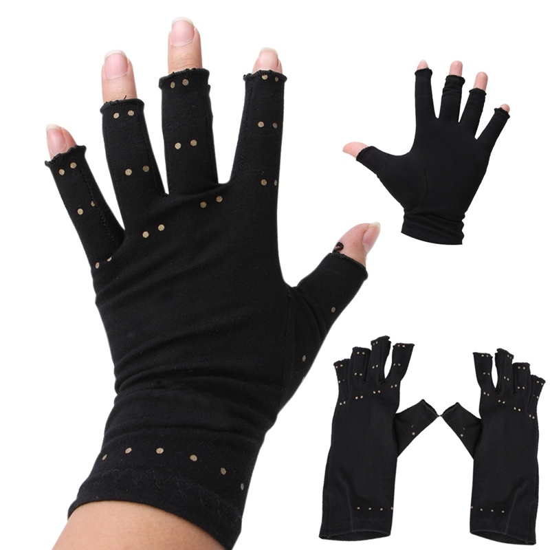 Magnetic Anti Arthritis Health Compression Therapy Gloves Rheumatoid Hand Pain Drop Ship ...