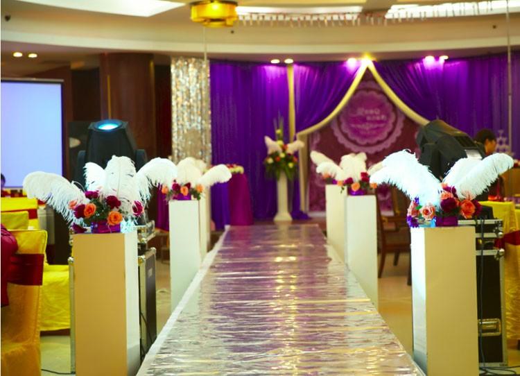 50 шт. красивые пера белого цвета Strauss pera для weedding украшения 30 - 35 см / 12 - 14 дюйм бесплатная доставка