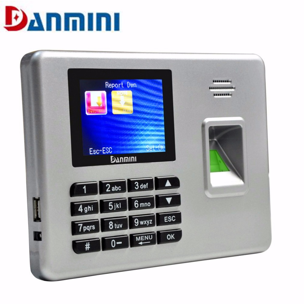 Danmini A3 sliver fingerprint reader biometric door lock with thumbprint scanner DC 5V/1A color TFT fingerprint sensor for PC fs28 biometric fingerprint access control machine electric reader scanner sensor code system for door lock