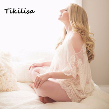 Tikilisa 2017 Maternity Photography font b Dress b font Plus Size Casual Lace font b Dresses