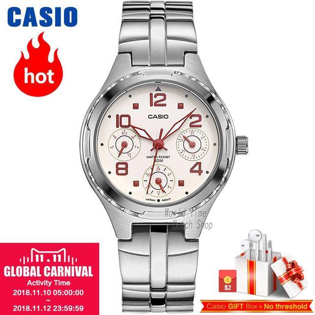 b31d27cabfbbc9 Zegarek Casio Analogowe damskie sportowe kwarcowy zegarek pasek ze stali  wodoodporny zegarek LTP-2069