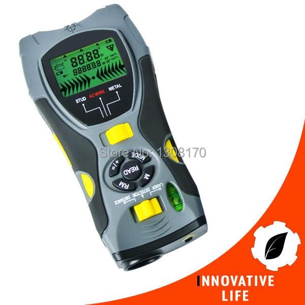 Multifunction 5in1 Digital Distance Meter Stud/Joists Metal AC Live Wire Detector Laser Marker Portable Tool  цены