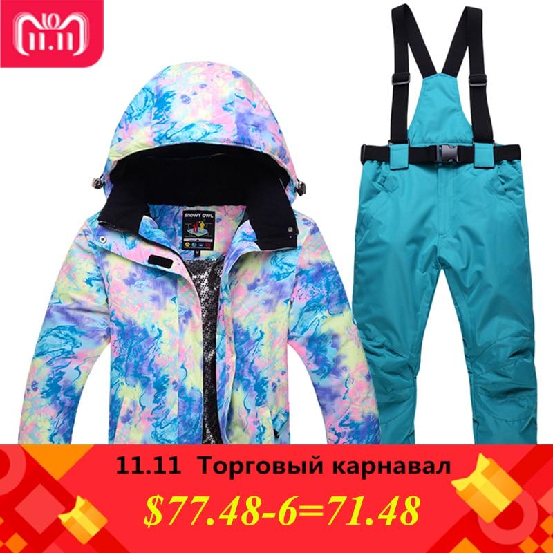 Saenshing Camouflage Winter Ski Suit Female Warm Waterproof Snow Ski Jacket+Denim Snowboard Pant Women Mountain Women Ski Suit все цены