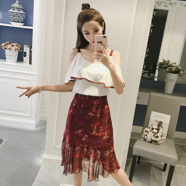 5503413a0 Best Offers 2018 new summer sweet pullover short flare sleeve ruffles slash  neck regular blouse +