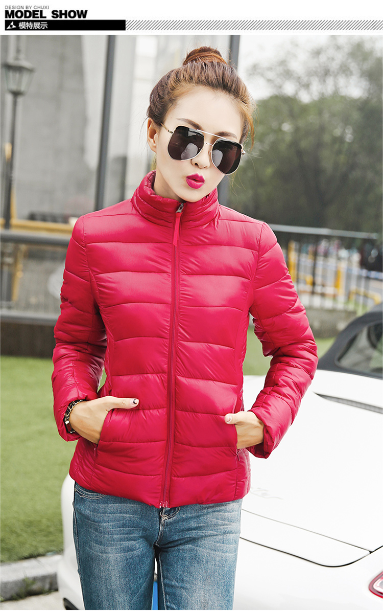 ФОТО winter 2017 ultra light down jacket women large size Korean Slim padded jacket Solid Female Parka and Jackets