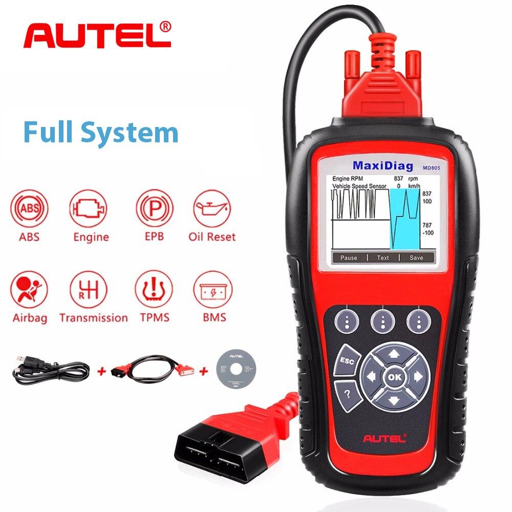 Autel MD805 Tous Les Système OBD2 Scanner Voiture Outil De Diagnostic Lecteur de Code Soutien Moteur MCO/EPB/transmission/Airbag outil