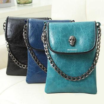 Faux Leather Skull Clutch 1