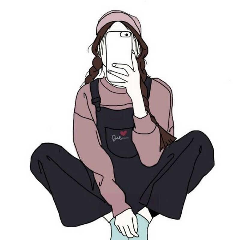 1 Dibujo De Persona Insignias Para Prendas De Vestir Kawaii