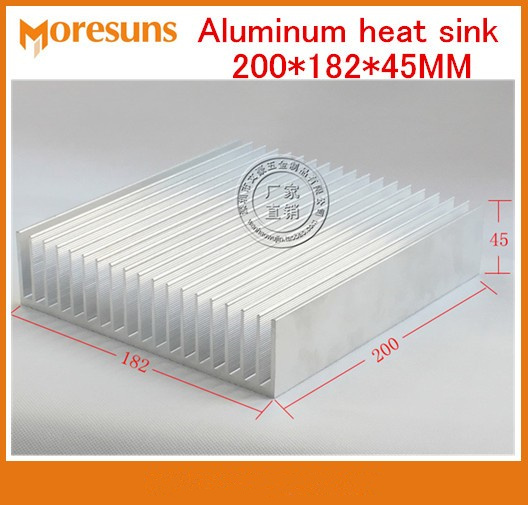 Fast Free Ship Aluminum heat sink 200*182*45MM super cooling high-power Aluminum radiator 1pcs heat sink 200 70 30mm silver high quality ultra thick aluminum radiator