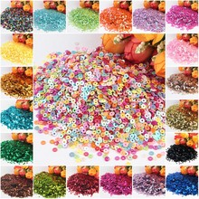 Sequins 3mm 4mm 5mm 6mm Flat Round PVC Loose Sequin Paillettes Sewing Craft for Wedding Decor Garment DIY Accessory Lentejuelas