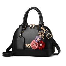 High Quality Women Ladies Leather Shoulder Bag Flower Shell Tote Purse Handbag Messenger Crossbody Satchel стоимость