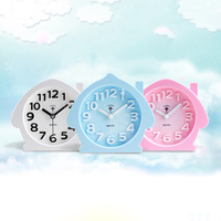 Kids Cute Cartoon Clock Alarm Creative Snooze Electronic Desk Table Clock Bedside Talking Despertador Digital Alarm 50A0090