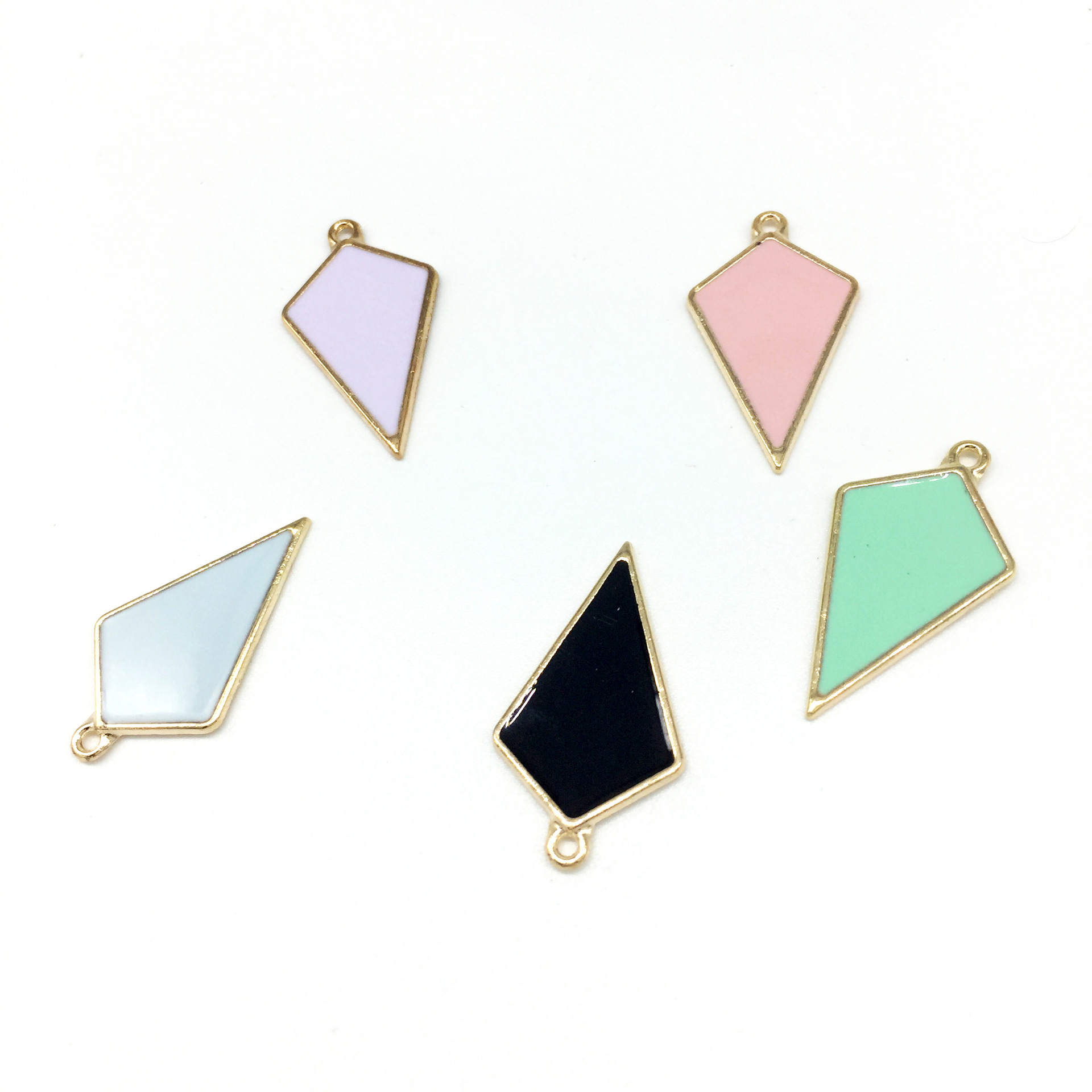 20pcs Wooden Triangle Charm for Jewelry Making Crafting Earrings Drop Charms