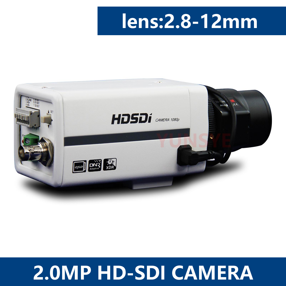 1080P HD SDI Camera with manual focus Zoom Lens2.8-12mm 2.4Megapixel Sony COMS,1080P30&720p,Used For Traffic Cashier Bank Campus hd 2mp 9mm 22mm zoom manual focal cs lens for hd ip sdi ahd cameras