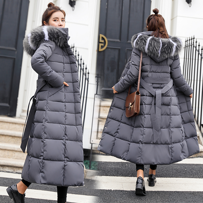 496d7c62 Купить Куртка женщин зима 2018 Новая модная куртка женская цвет волосы  длинные толстые с капюшоном высокого качества теплая куртка женская  хлопчато... Цена ...