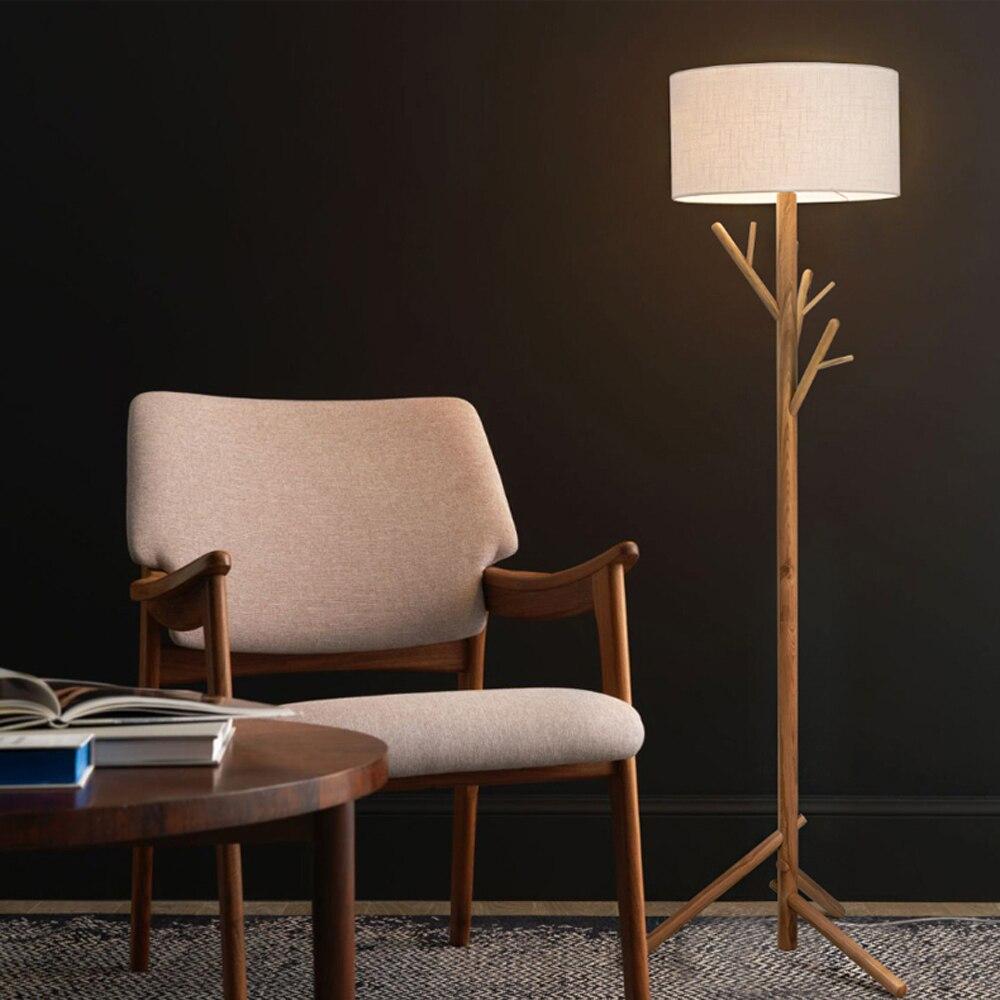 led e27 Nordic Iron Fabric Wood LED Lamp LED Light LED Floor Lamp Floor Light For Foyer Dinning Room Bedroom Store