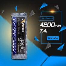 Lipo battery 7.4V 4200Mah 2S 35C RC Rechargeable AKKU truck Car 10B4 10T4 Evader batteries