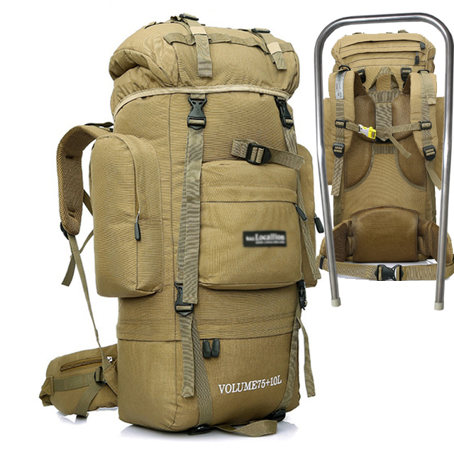 OUTDOOR LOCAL LION Tactical Backpack Men Climbing Hiking Backpacks Bag Women Army Military Waterproof Rucksack Molle 85L HT431 80l outdoor backpack large capacity camping camouflage military rucksack men women hiking backpack army tactical bag