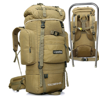 OUTDOOR LOCAL LION Tactical Backpack Men Climbing Hiking Backpacks Bag Women Army Military Waterproof Rucksack Molle 85L HT431