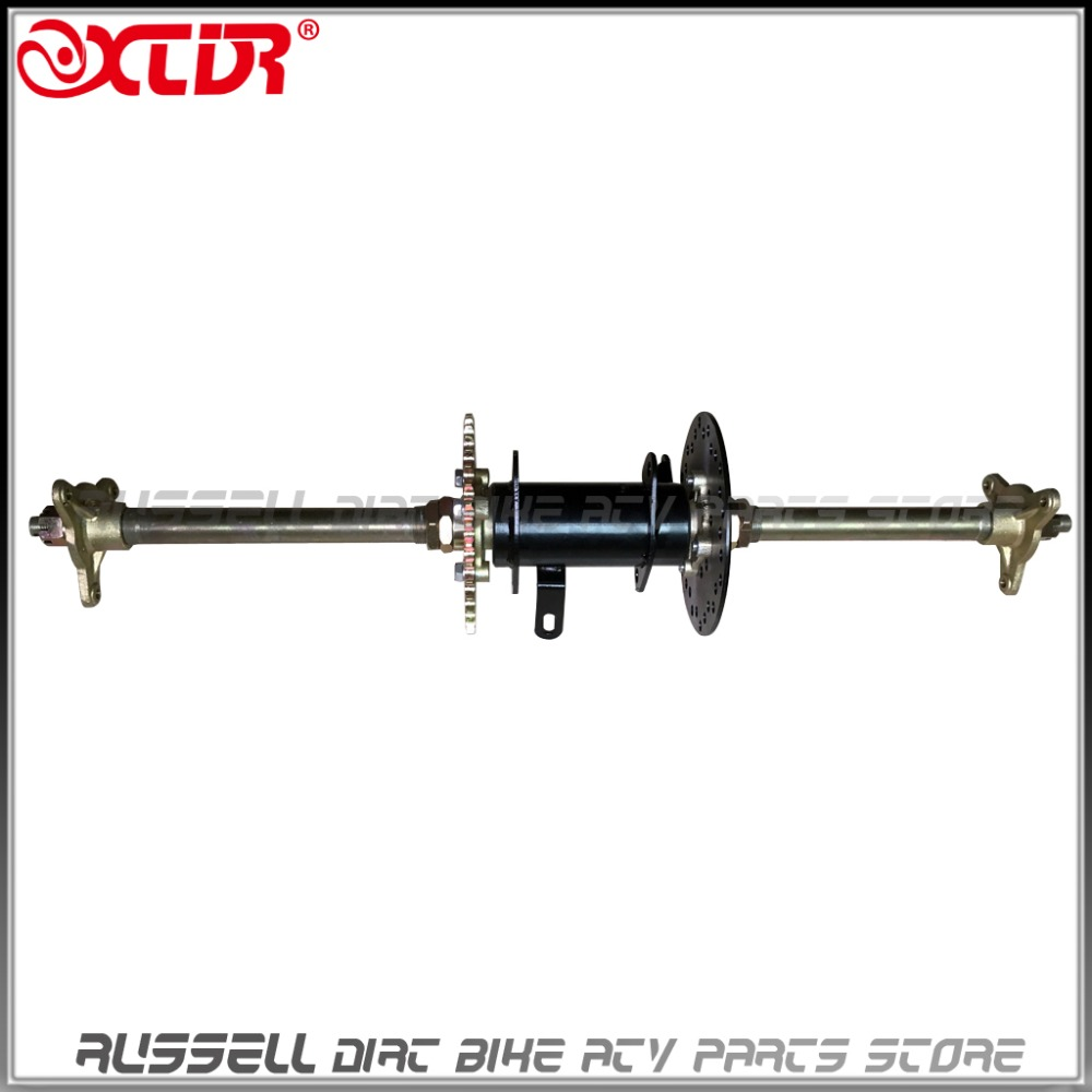 Rear Axle Complete Assembly With Carrier Hub Brake Disc Chain Sporcket 110cc 150cc 200cc Atv Quad Go Karts Bike Atv Parts & Accessories
