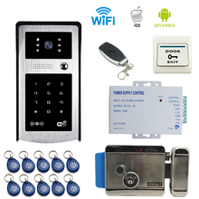 JERUAN new wireless Wifi Video Door Phone Doorbell and Phone telecontrol Talkback/RFID/Code/remote control/Unlock Free Shipping