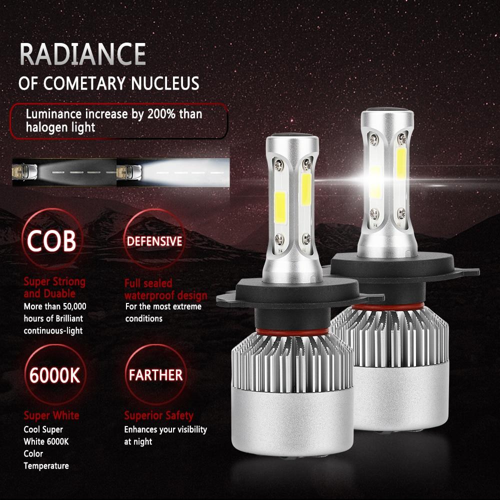 2 PCS H7 H4 H11 LED 12 V COB Headlight Mobil Bulb H1 H3 9005 9006 H13 - Lampu mobil - Foto 5
