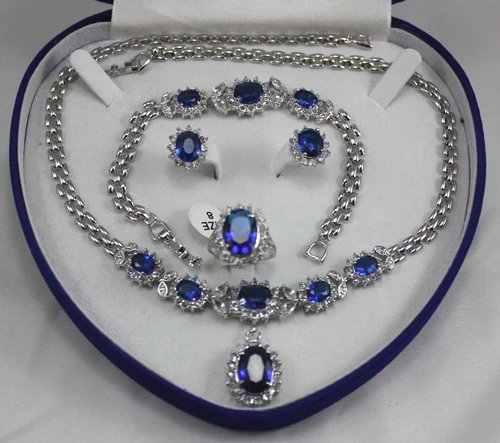 Palavra presente das mulheres por atacado conjuntos de jóias para as mulheres choker anime verde gem prata crystl brinco colar pulseira anel