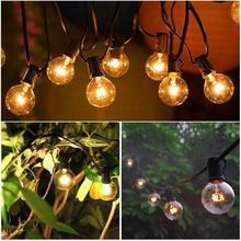 купить 8M G40 Globe Bulb String Lights With 25 Clear Ball Vintage Bulbs Outdoor For Wedding Light Party Patio String Lighting EU/US дешево