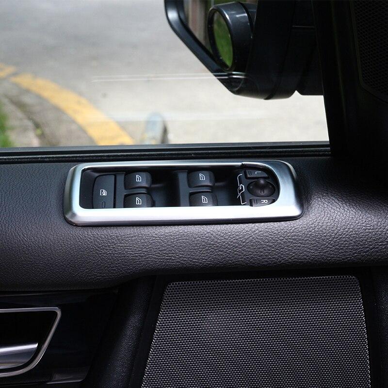 Chrome-biltilbehør til Range Rover Sport 20010-2013 Dørvinduesafbryderpanelafdækning Trim til Land Rover Discovery 4 2009-2016