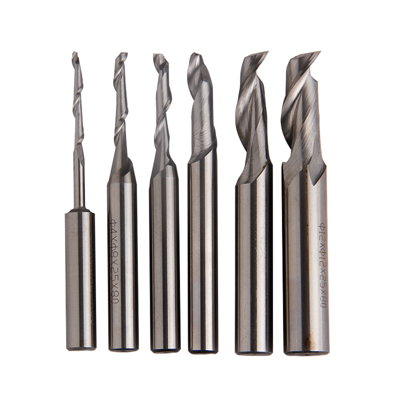 1pc Single-flute Milling Cutter Carbide End Mill 3/4/5/8/10/12mm Diameter Router Bit Straight Shank CNC Mill Tools