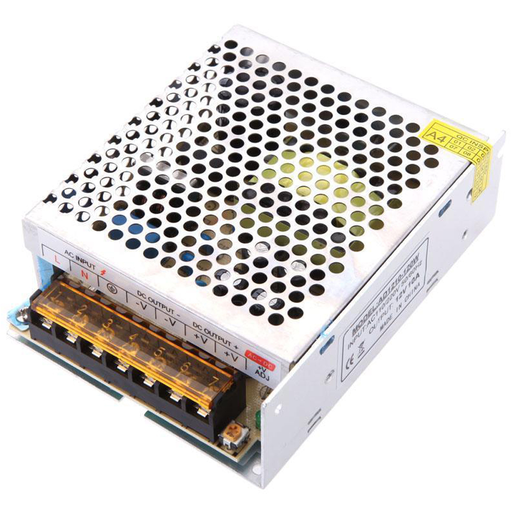CNIM Hot AC 110/220V to DC 12V 10A 120W Voltage Transformer Switch Power Supply NEW