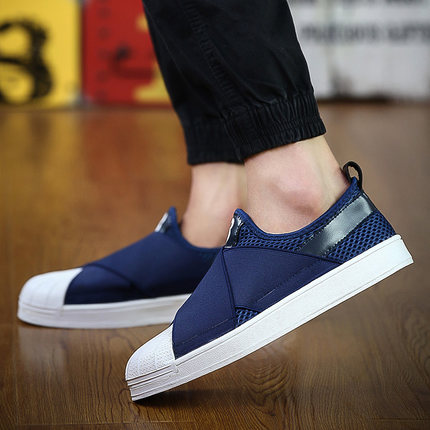 Spring Summer Mens Casual Shoes Mixed Color Breathable Flat ...